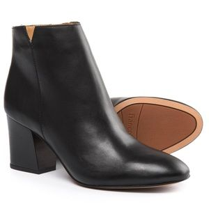 Franco Sarto black leather Olympia chunky bootie 8